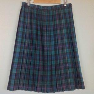 Vintage Alfred Dunner Plaid Midi Skirt Womens 14